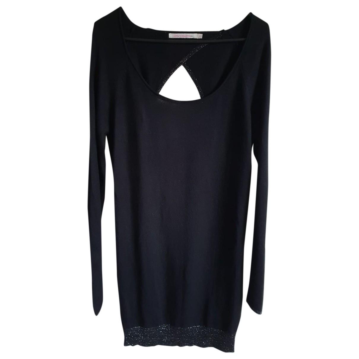 Berenice \N Kleid in  Schwarz Seide