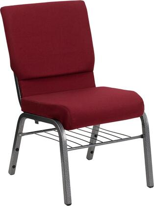 Hercules Collection XU-CH-60096-BY-SILV-BAS-GGMultipurpose Church Chair with 16 Gauge Steel Frame  Waterfall Seat Edge  Floor Protector Glides