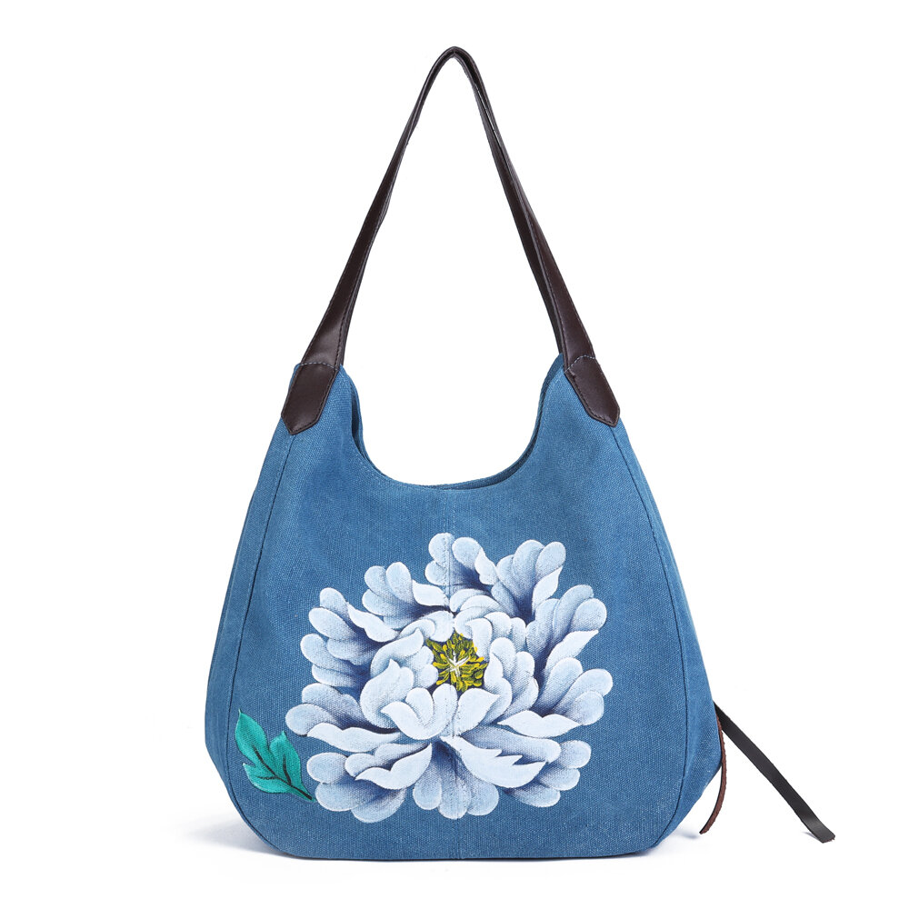 Hand Painted Handbags Casual Chinese Style Shopping Bags
