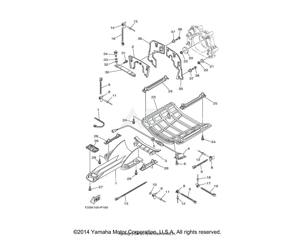 Yamaha OEM F3J-U757E-00-00 PLATE, RUBBER 1