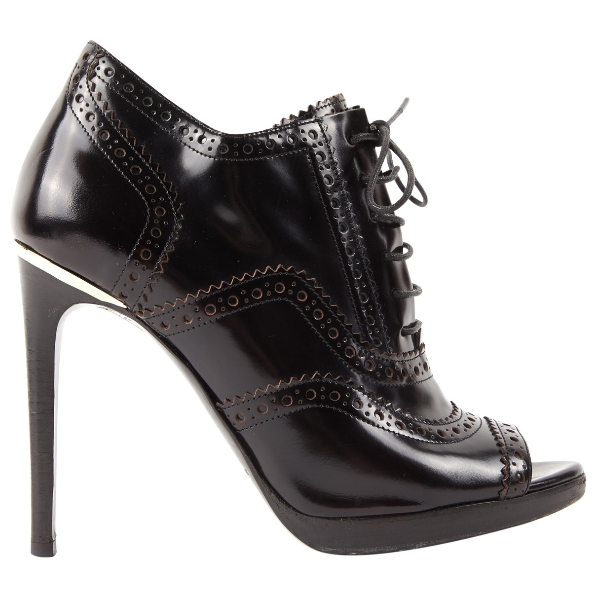 Burberry \N Stiefeletten in  Schwarz Lackleder