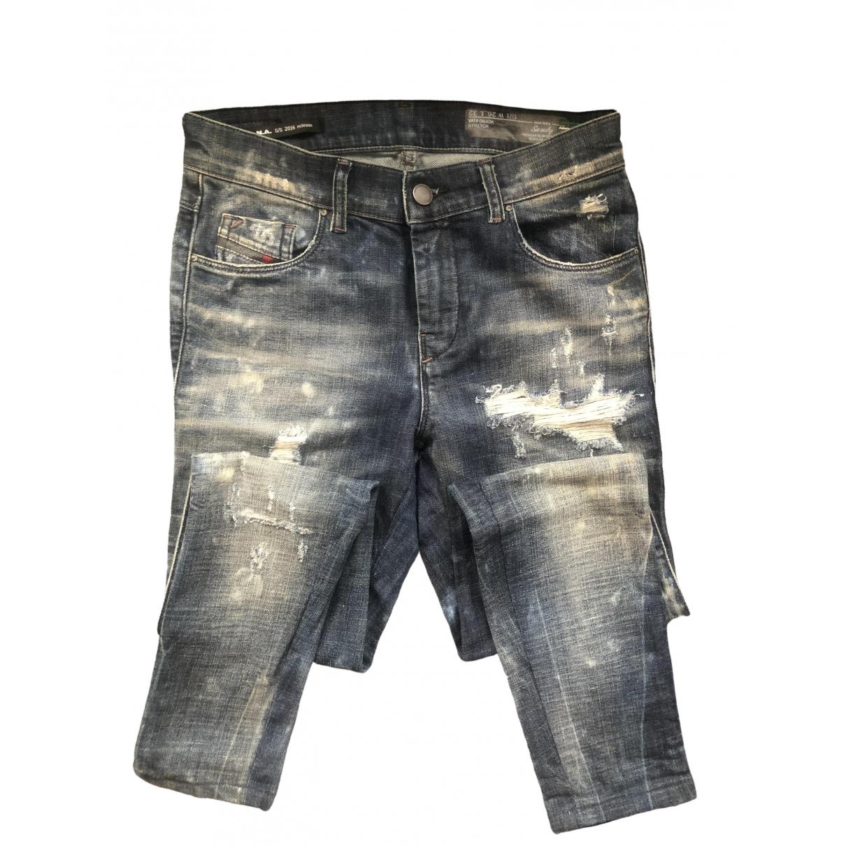 Diesel \N Anthracite Denim - Jeans Trousers for Women 36 FR