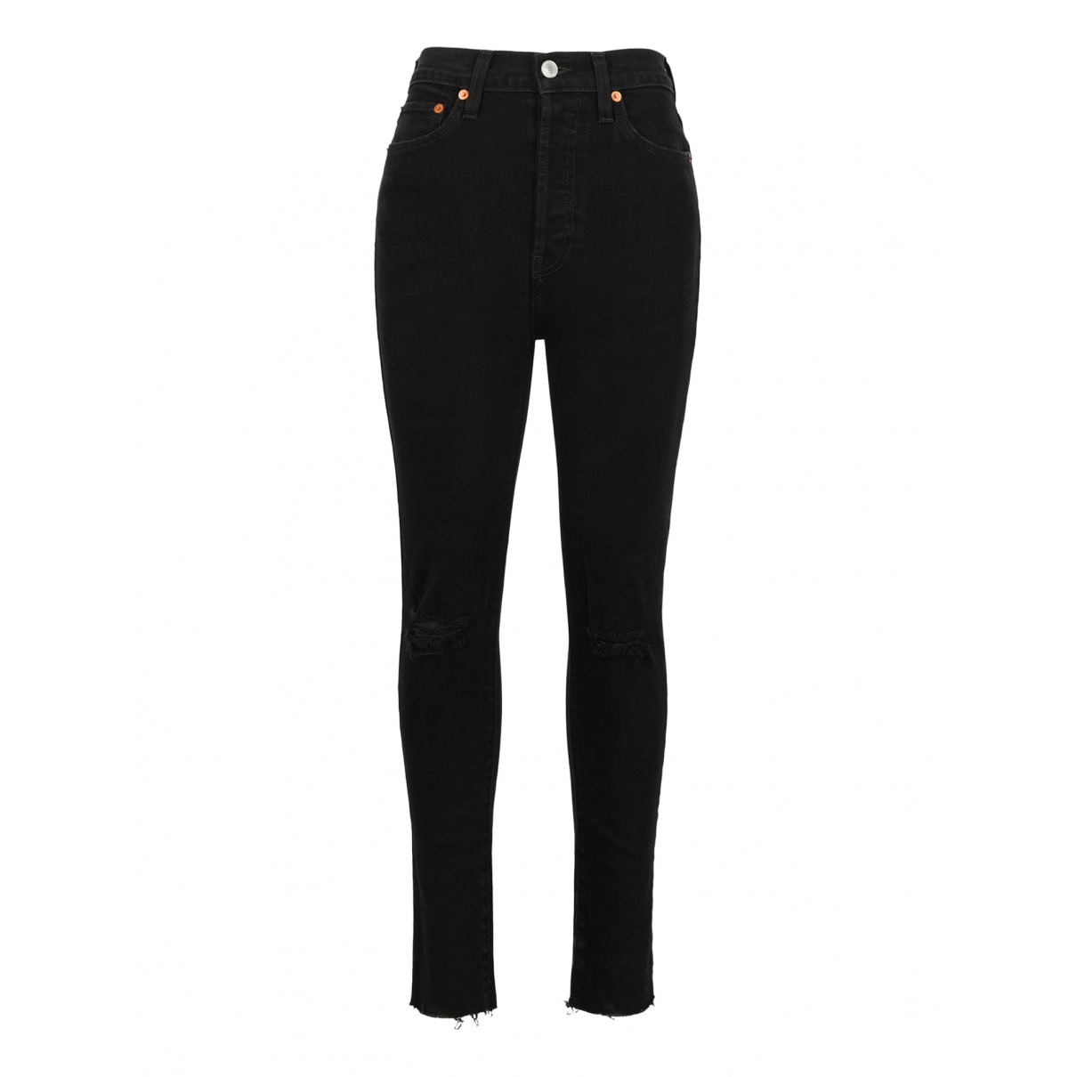 Re/done - Jean   pour femme en coton - noir