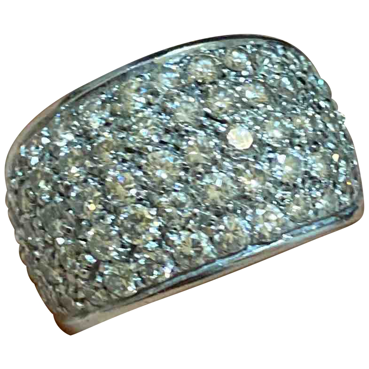 Non Signe / Unsigned \N Ring in Weissgold