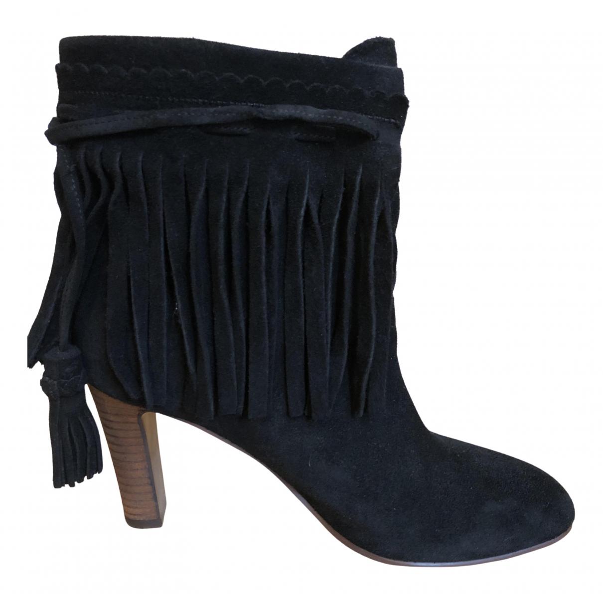 See By Chloe - Boots   pour femme en suede - noir