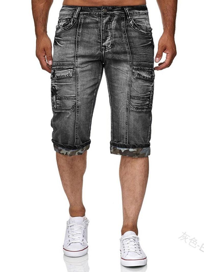 Ericdress Slim Pocket Zipper Shorts