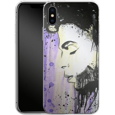 Apple iPhone X Silikon Handyhuelle - Prince von Federica Masini