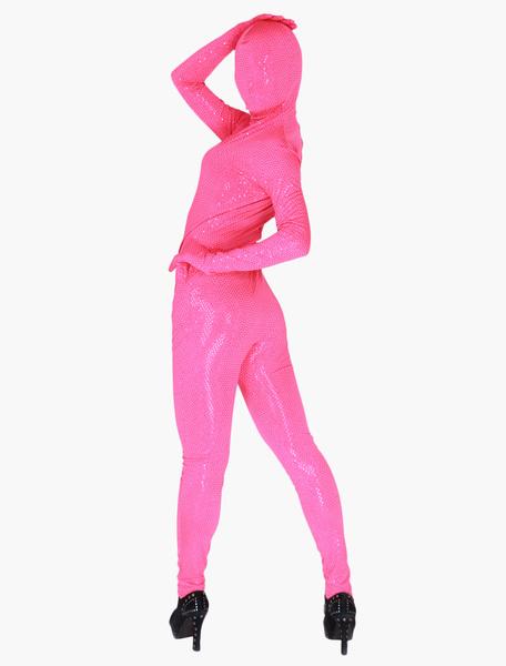 Milanoo Disfraz Halloween Zentai de terciopelo de color liso Halloween