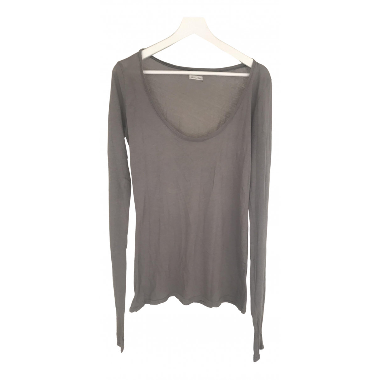 American Vintage \N Grey Cotton  top for Women One Size FR