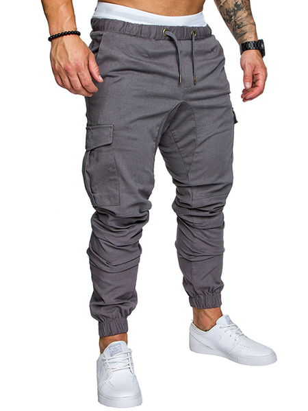 Yoins Men Summer Fashion Multi Pocket Tooling Casual Pants