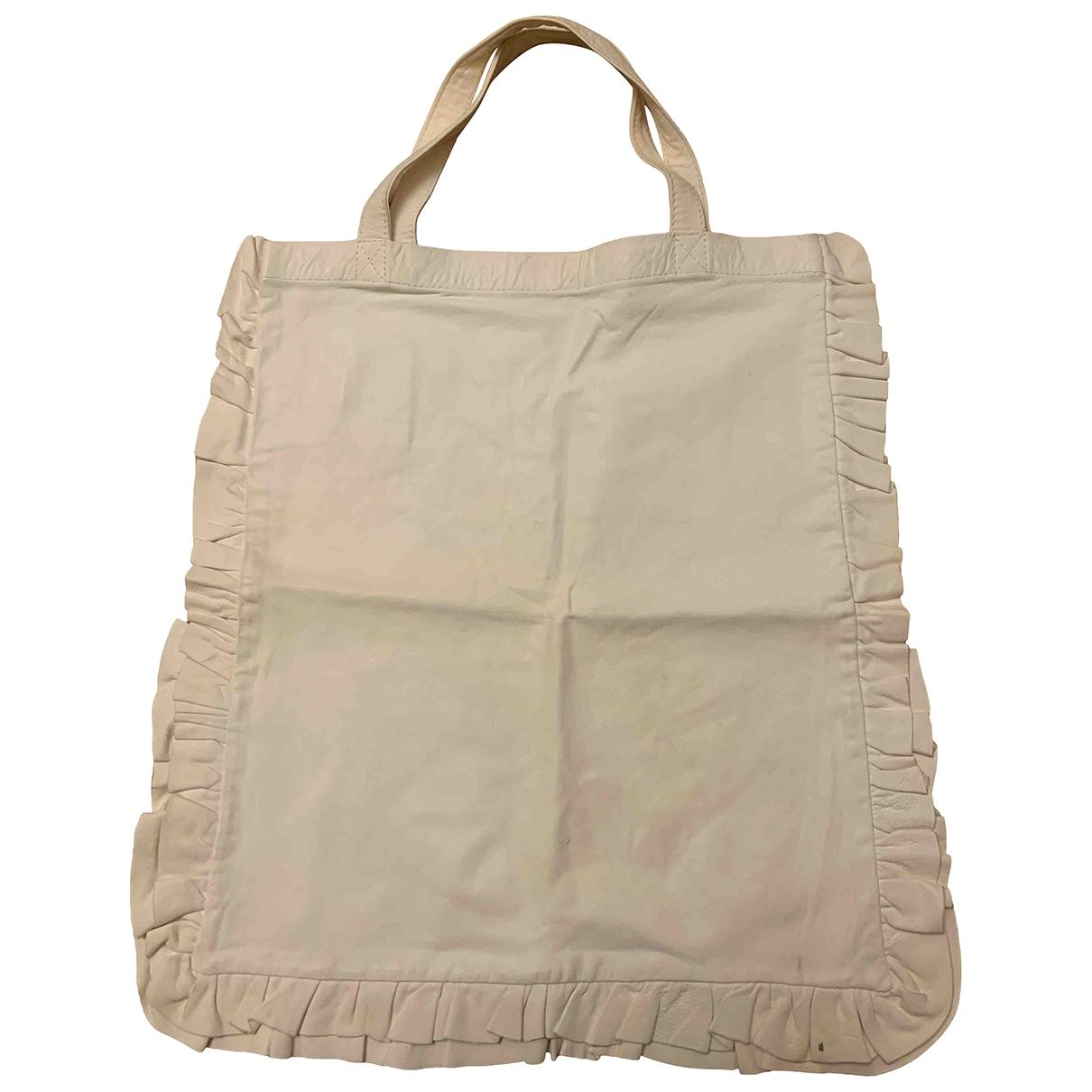 Comme Des Garcons \N White Leather handbag for Women \N