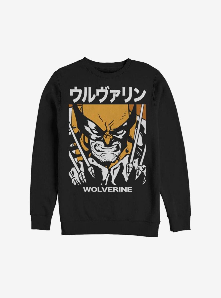 Marvel X-Men Wolverine Kanji Block Sweatshirt