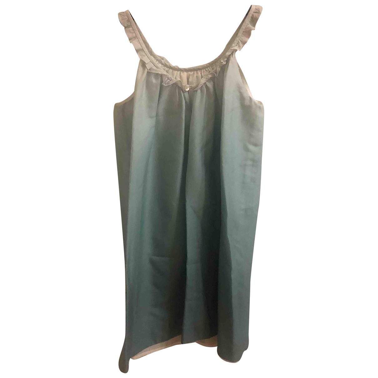 Bonpoint - Robe    pour enfant en coton - turquoise