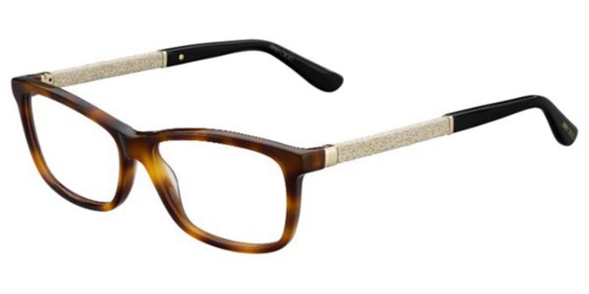 Jimmy Choo JC167 KLZ Women's Glasses Tortoise Size 52 - Free Lenses - HSA/FSA Insurance - Blue Light Block Available