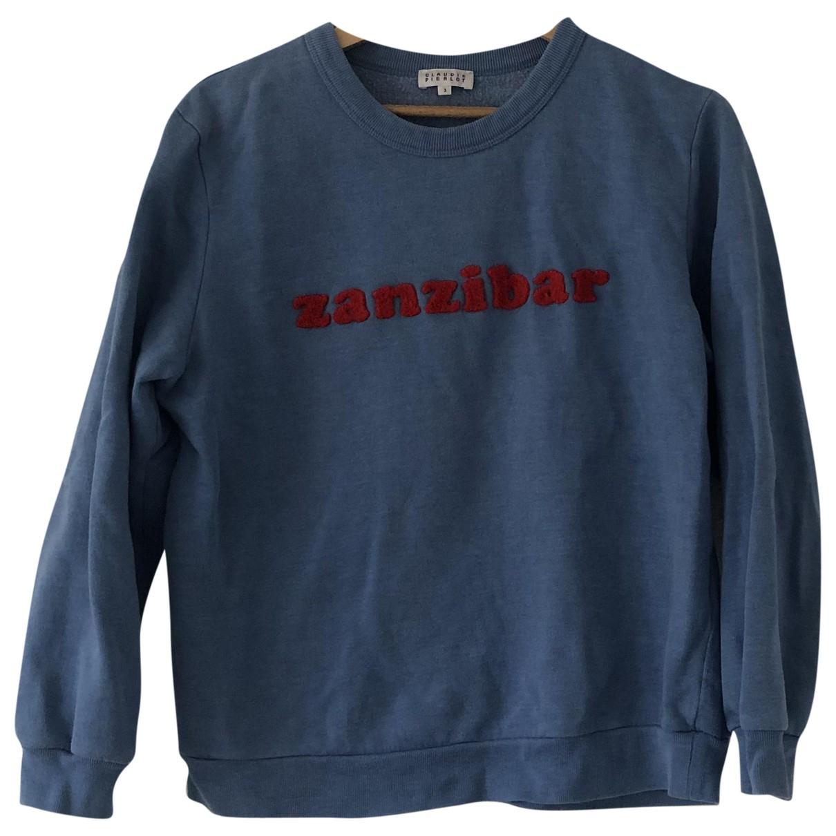 Claudie Pierlot \N Pullover in  Blau Baumwolle