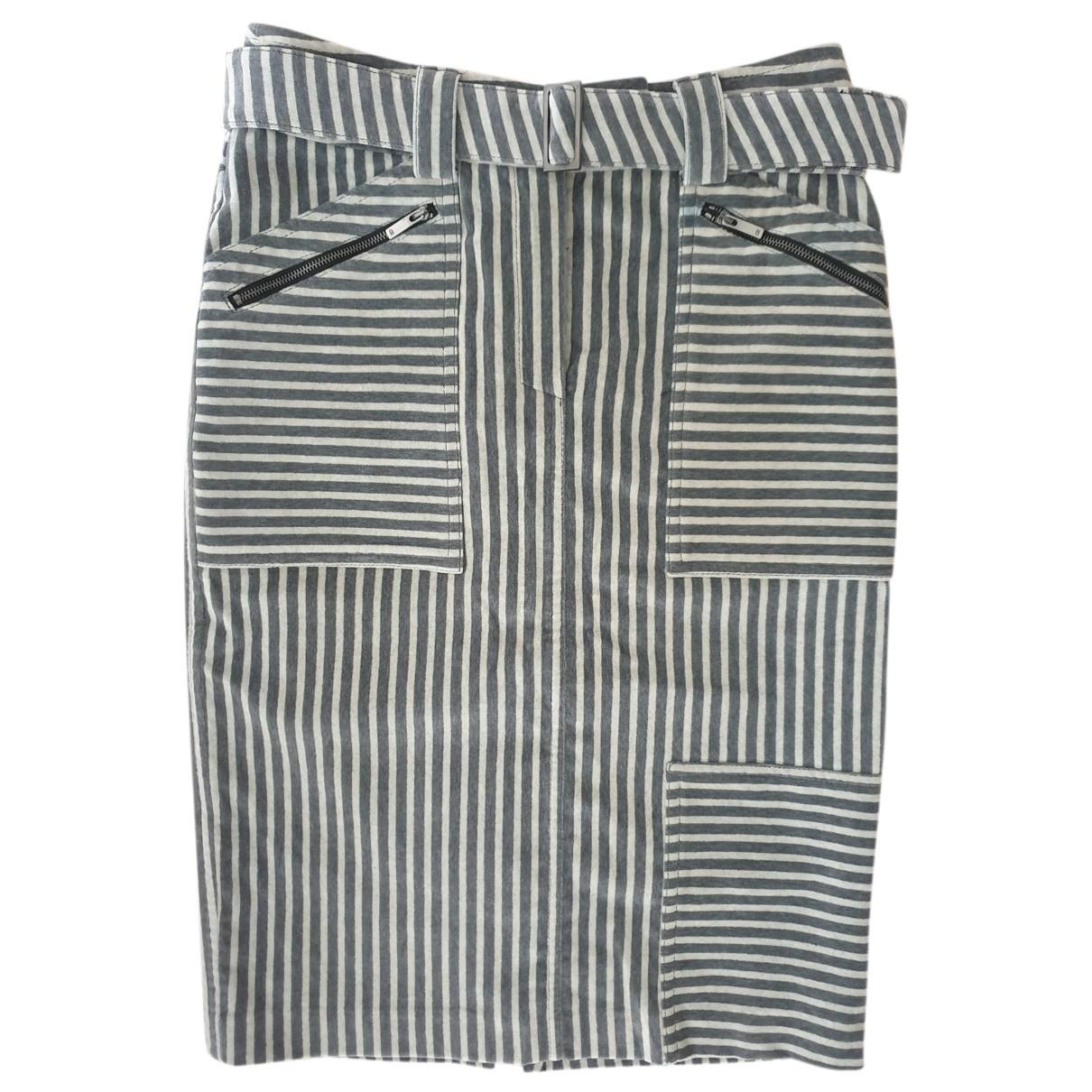 Carolina Herrera - Jupe   pour femme en coton - gris