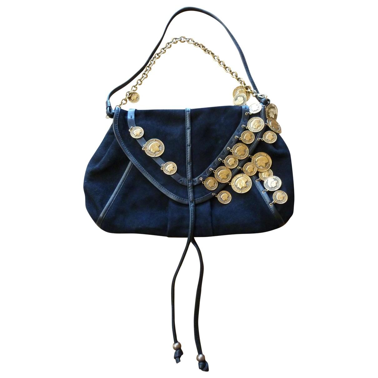 Sonia Rykiel \N Handtasche in  Schwarz Veloursleder