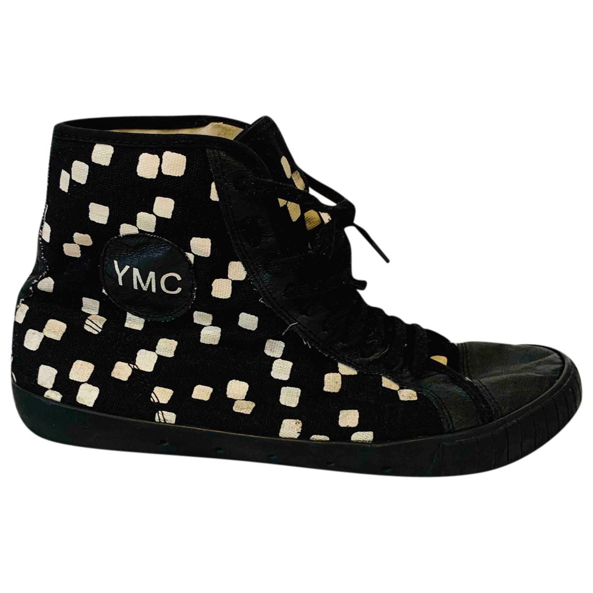 Ymc - Baskets   pour homme en toile - noir