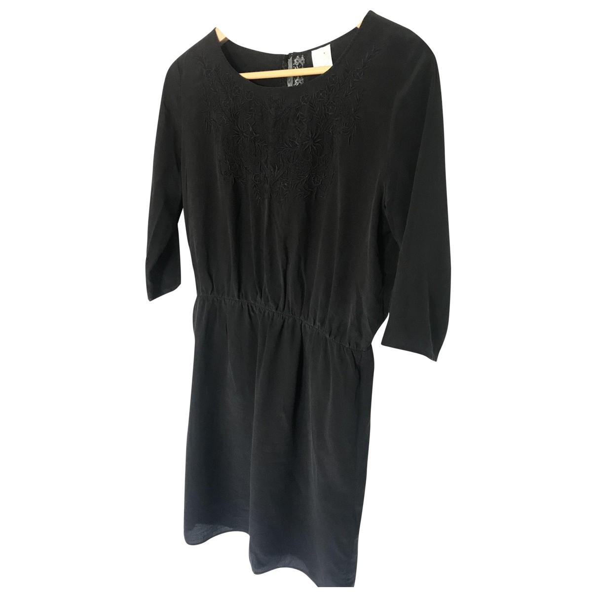 Des Petits Hauts - Robe   pour femme en soie - noir