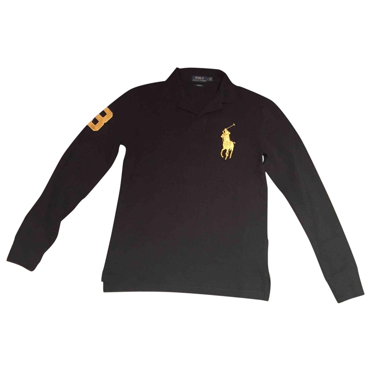 Polo Polo classique manches longues en Algodon Negro Polo Ralph Lauren