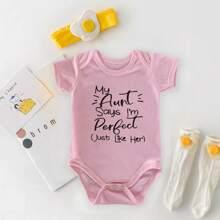 Baby Girl Slogan Graphic Tee Bodysuit