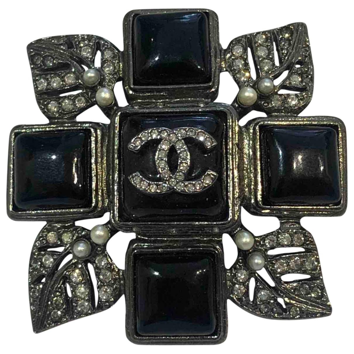 Broche en Metal Negro Chanel