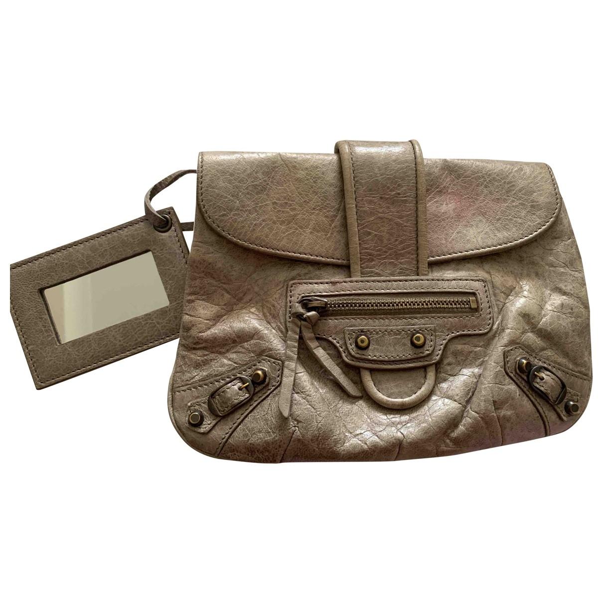 Balenciaga \N Grey Leather Clutch bag for Women \N