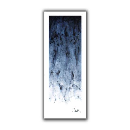Brushstone Black Watery Canvas Wall Art, One Size , Gray