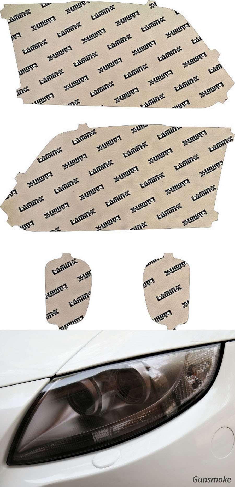 Dodge Ram Truck 1500 13-18 Projector Gunsmoke Headlight Covers Lamin-X D027G