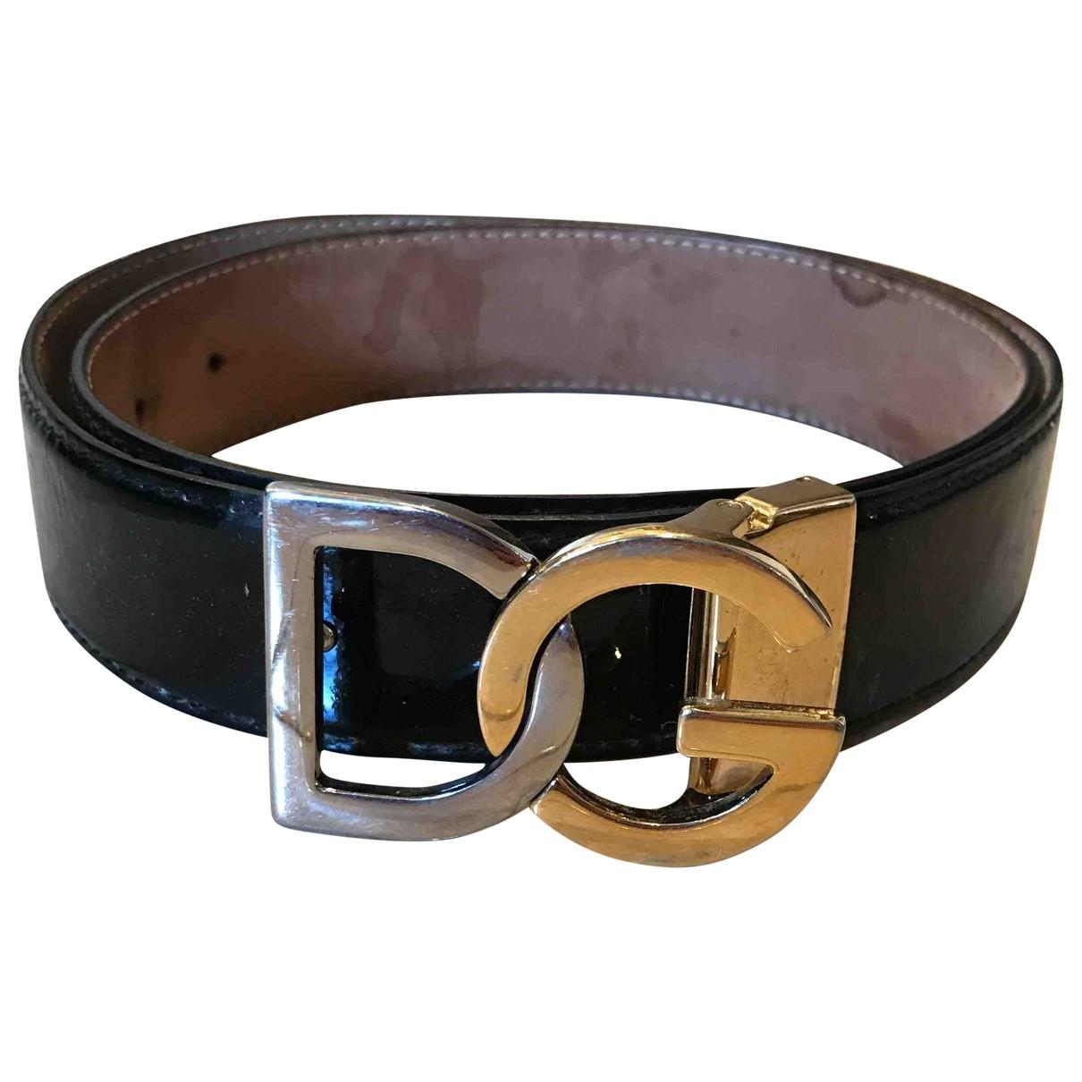 Dolce & Gabbana \N Black Patent leather belt for Women 85 cm