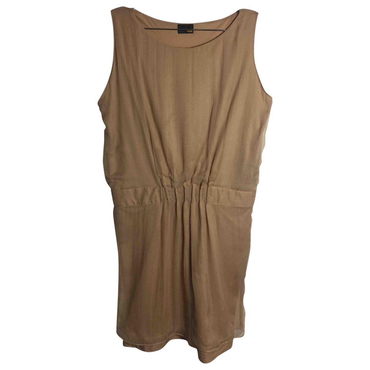 Fendi \N Camel Silk dress for Women 42 IT