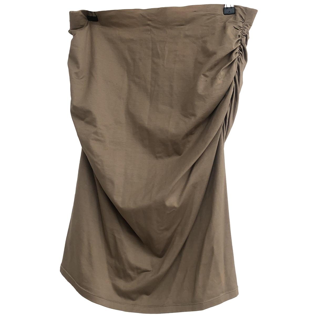 Paule Ka \N Beige Cotton skirt for Women L International