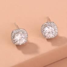Rhinestone Stud Earrings