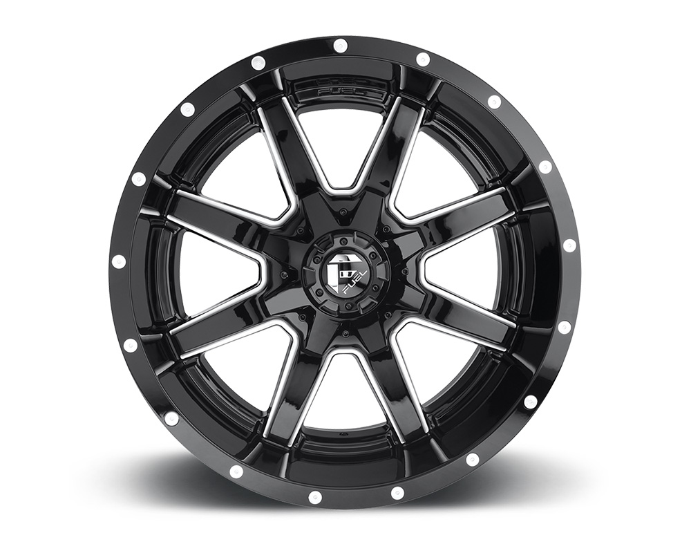Fuel D610 Maverick Gloss Black & Milled 1-Piece Cast Wheel 22x10 8x170 -24mm