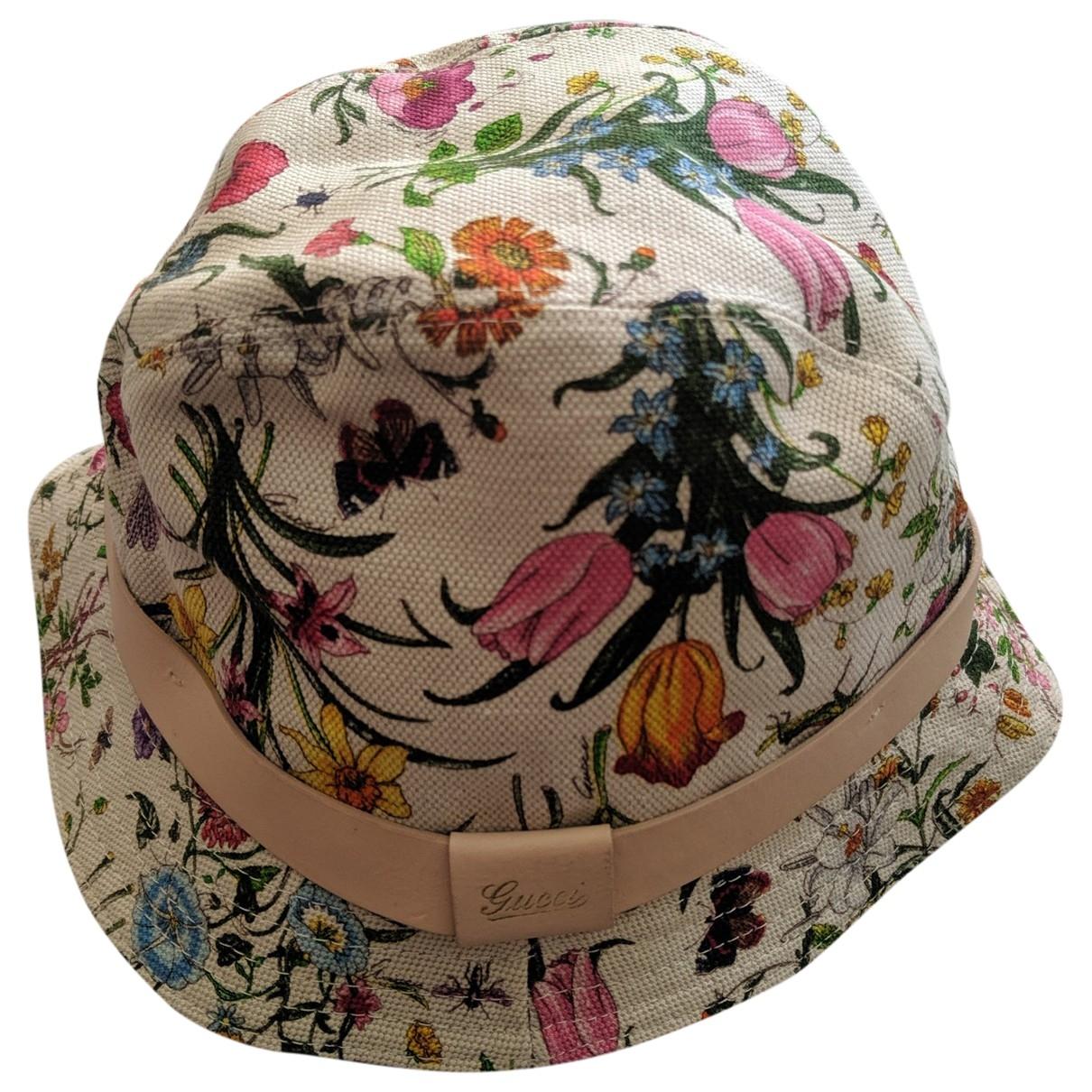 Gucci - Chapeau   pour femme en coton - beige