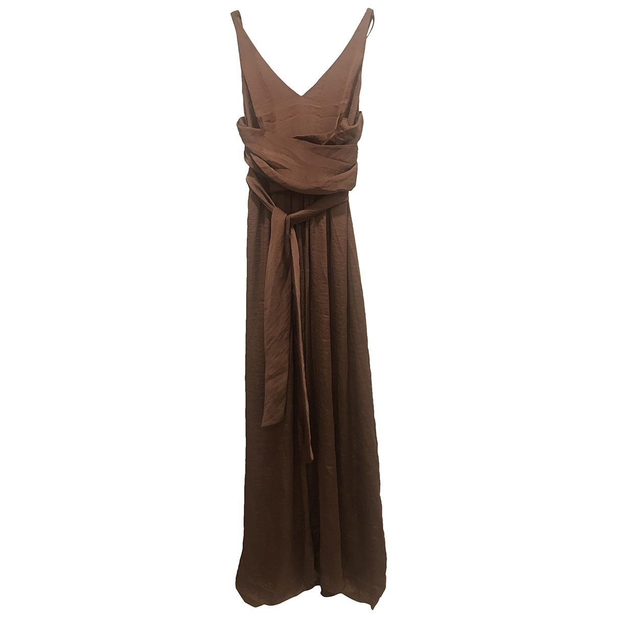 Hoss Intropia \N Brown Silk dress for Women 38 FR