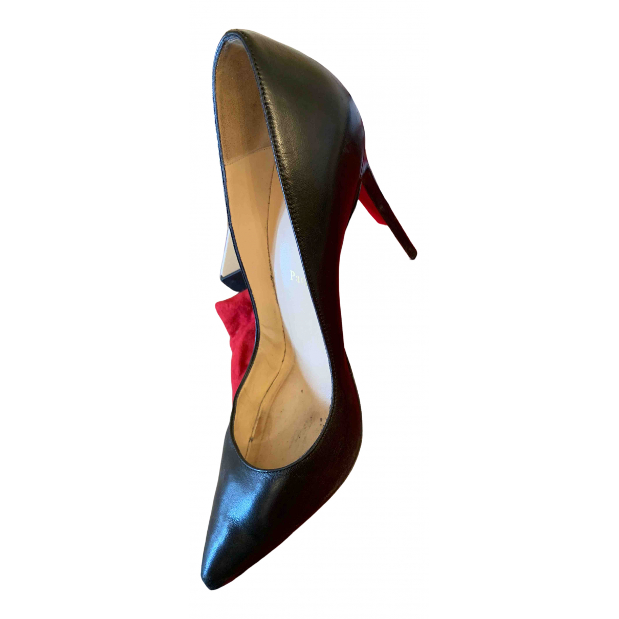 Christian Louboutin \N Black Leather Heels for Women 40 IT