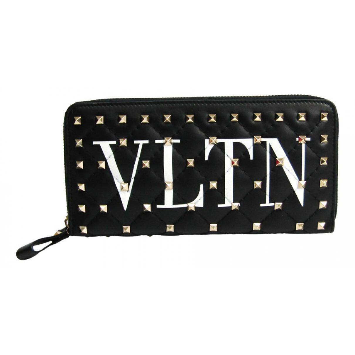 Valentino Garavani N Black Leather wallet for Women N