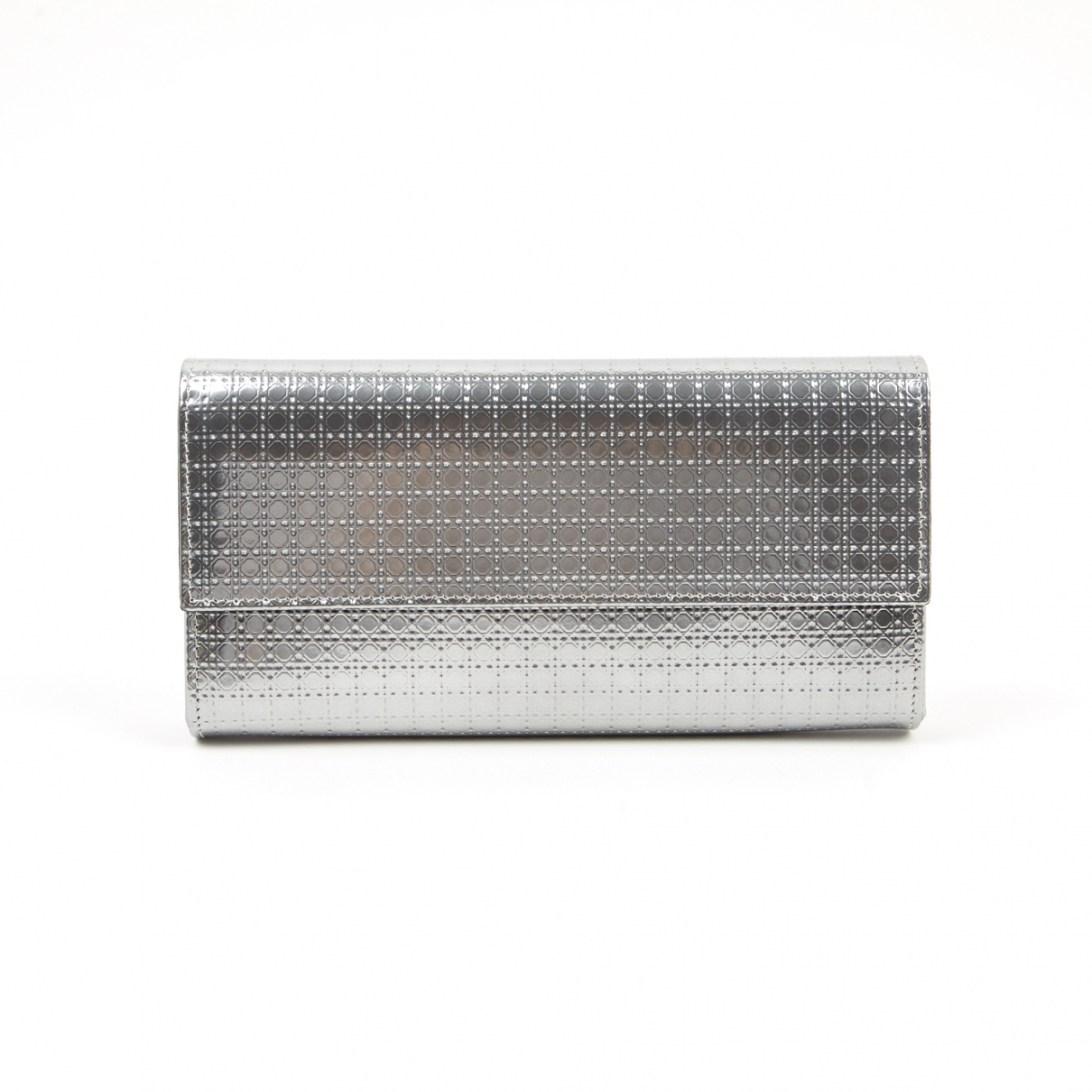 Dior Lady Dior Silver Leather wallet for Women N