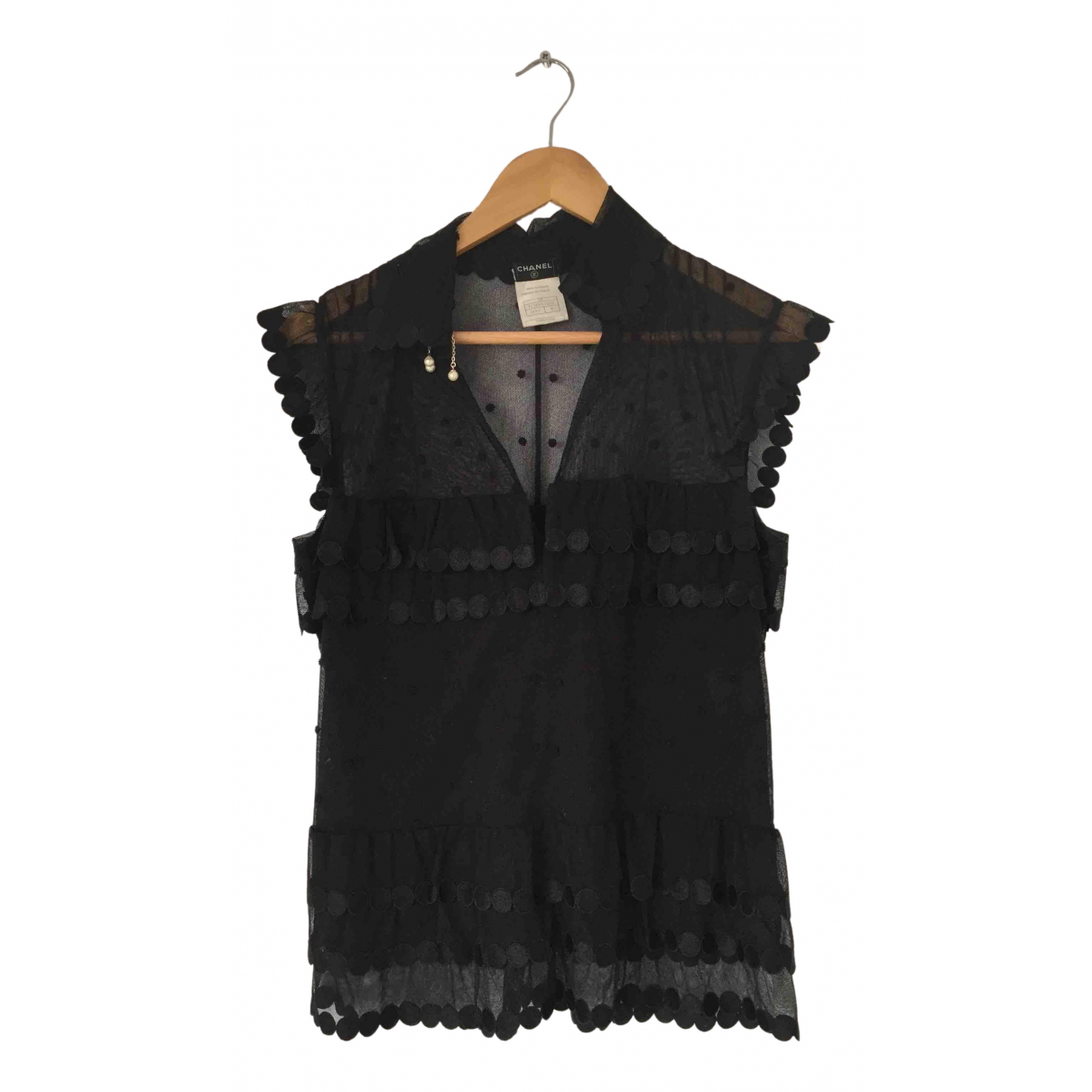 Chanel \N Black Cotton  top for Women 36 FR