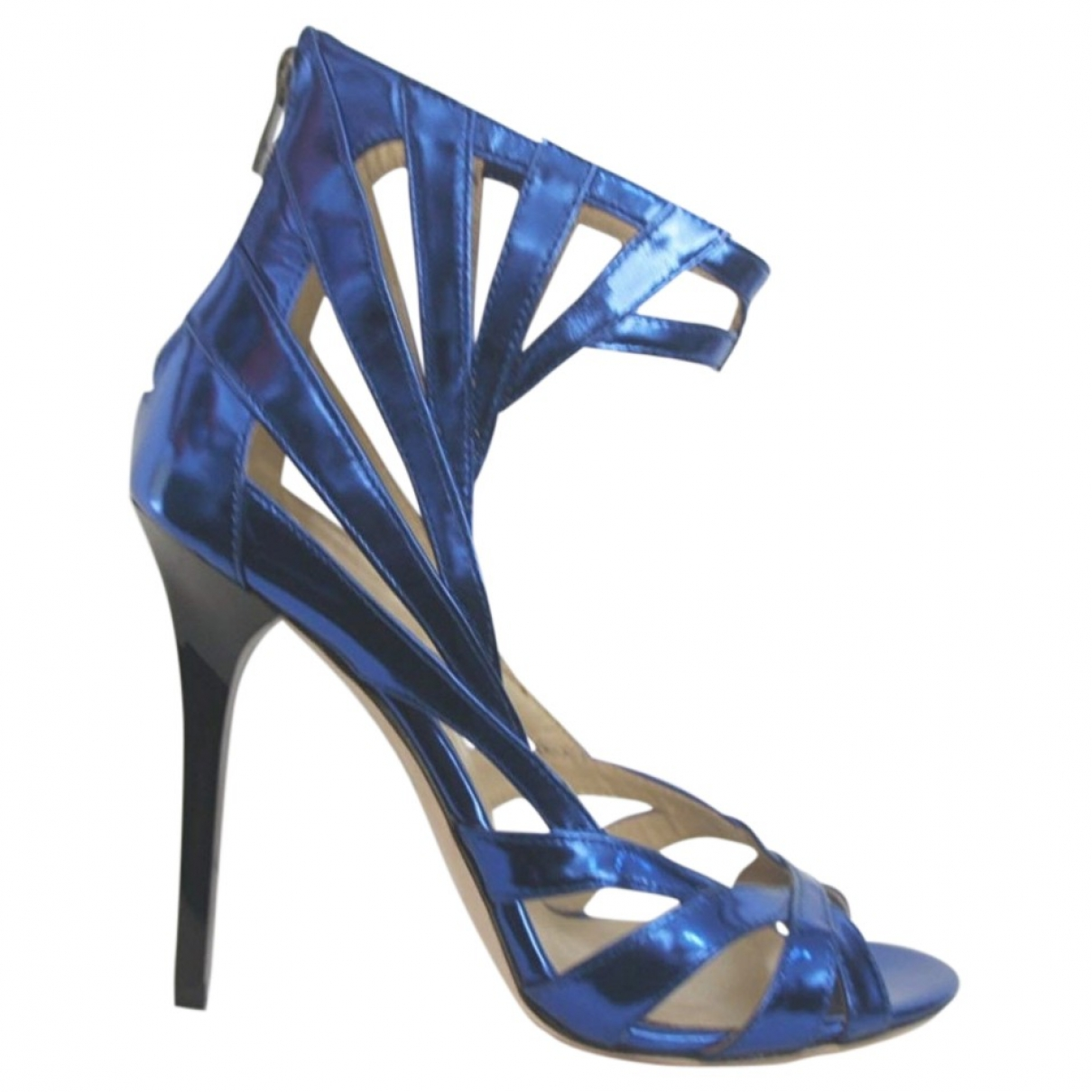 Jimmy Choo For H&m \N Blue Leather Sandals for Women 40 EU