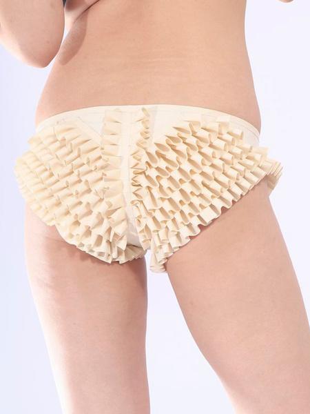 Milanoo Disfraz Halloween Pantalones cortos de latex blanco Halloween