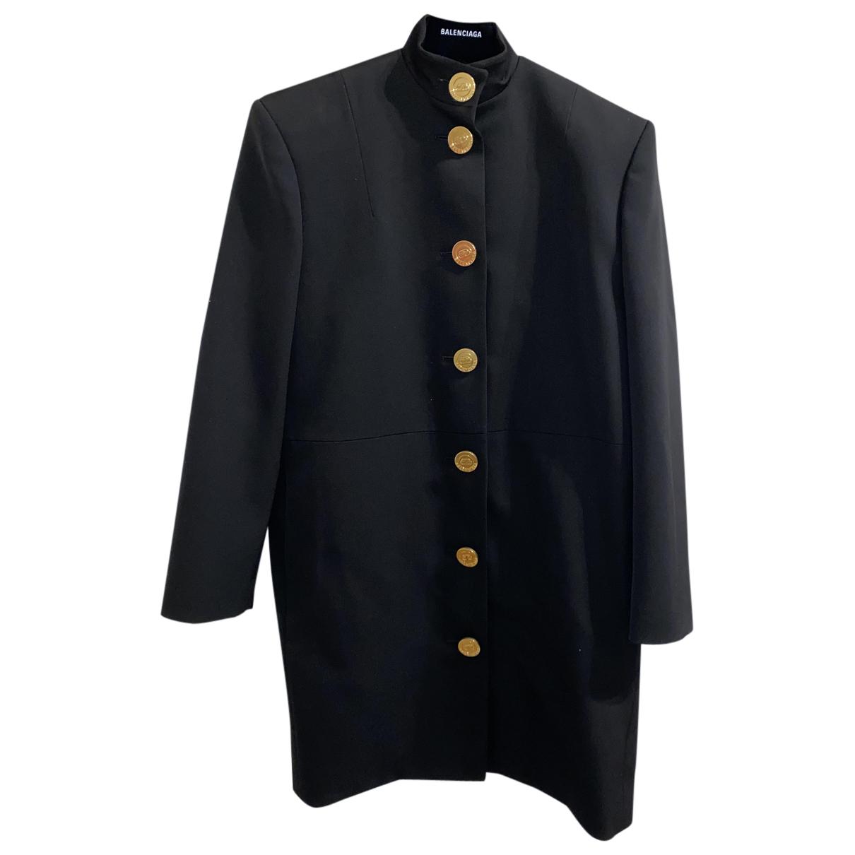 Balenciaga - Robe   pour femme en laine - noir