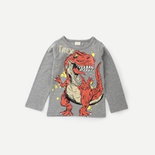 Toddler Boys Dinosaur And Letter Print Tee