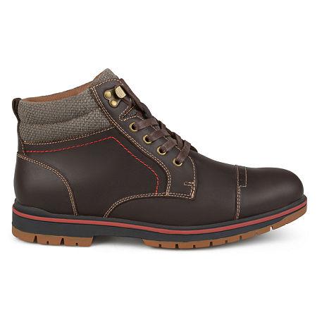 Vance Co Mens Javor Lace Up Boots, 11 Medium, Brown