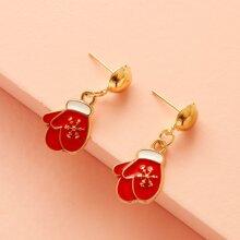 1 Paar Weihnachten Ohrringe mit Handschuh Design