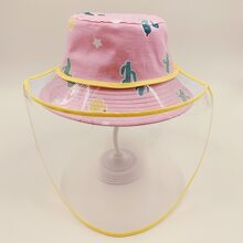 Girls Cactus Pattern Removable Bucket Hat