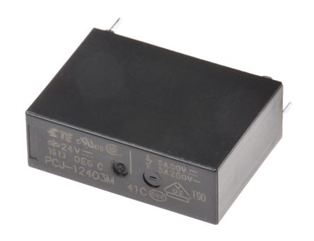 TE Connectivity , 24V dc Coil Non-Latching Relay SPNO, 3A Switching Current PCB Mount Single Pole