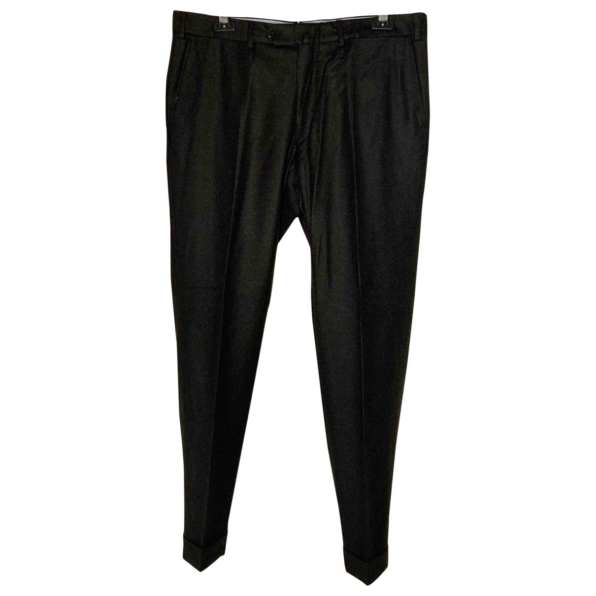 Loro Piana \N Anthracite Wool Trousers for Men 52 IT