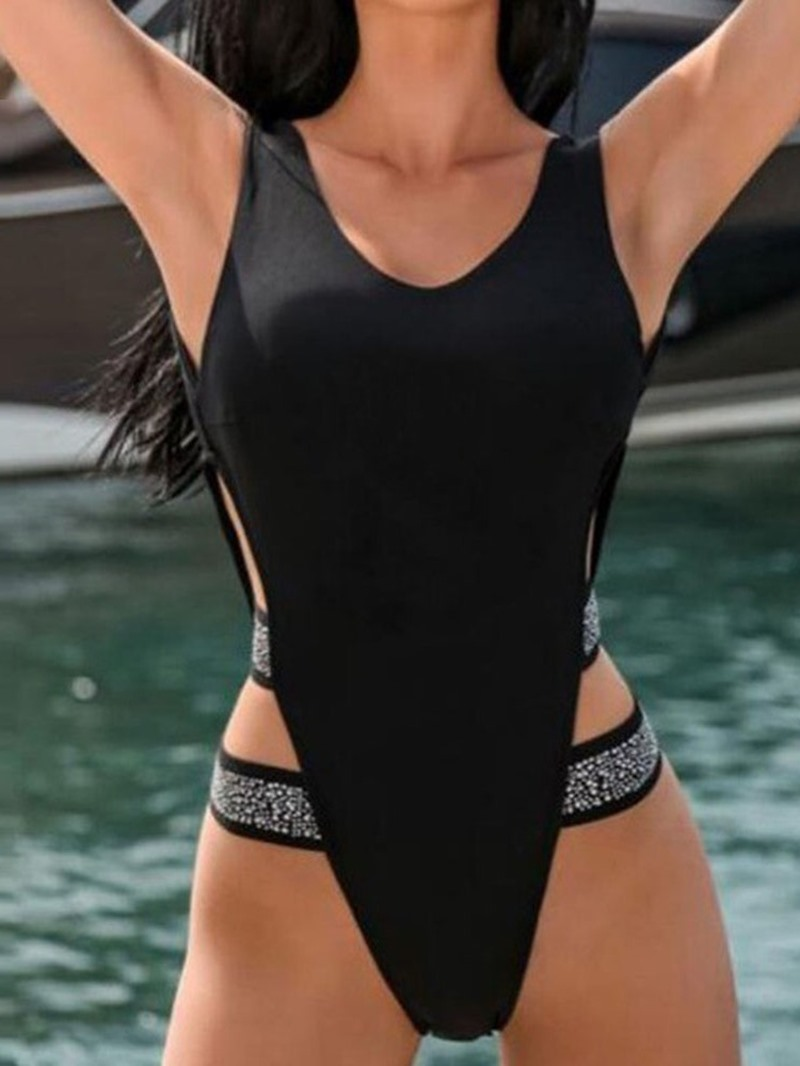 Ericdress One Piece Color Block Sexy Micro Bikini